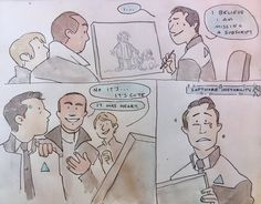 I love the idea that Connor isn't that great at art Even though that drawing is precious