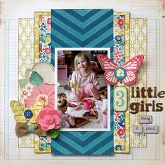 Love the layering & colors :) 3 Little Girls Having a Picnic - My Creative Scrapbook - Scrapbook.com