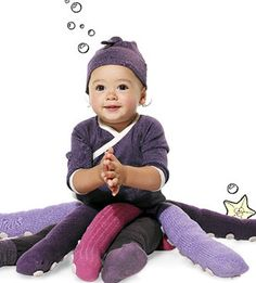 Put old colorful tights to use with this easy-to-make octopus Halloween costume! http://www.parents.com/holiday/halloween/costumes/octopus-costume/?socsrc=pmmpin092112HWCOctopus