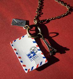From Paris with Love / PenPal Necklace.