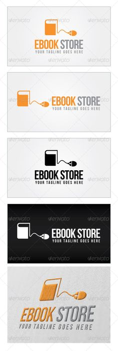 Ebook Store Logo Template — Photoshop PSD #library association #publications • Available here → https://graphicriver.net/item/ebook-store-logo-template/4639228?ref=pxcr