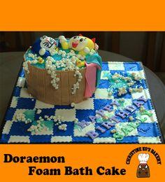 doremon bath cake