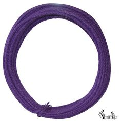 Wired Jute Roping Color: Purple Burlap roping, wired, 4 mm in width; 25 yards in length More colors available at www.trendytree.com