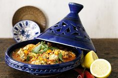 Tagine, meat and veggies cooked in a clay pot, is one of the most common dishes offered at restaurants in Morocco.