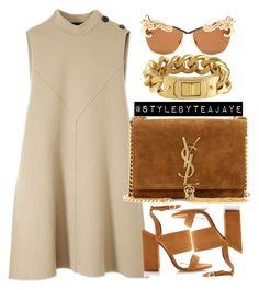 """Untitled #1897"" by stylebyteajaye ❤ liked on Polyvore featuring mode, Derek Lam, Tabitha Simmons, Yves Saint Laurent, CC SKYE et MOO"