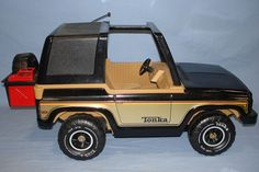 My brother had this Tonka Jeep with full figure G.I. Joe men . He would come attack my Barbies . Those days