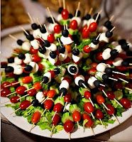 Appetizers, appetizers, and more appetizers.    This blog has dozens of wonderful ideas for individual servings of appetizers at parties!