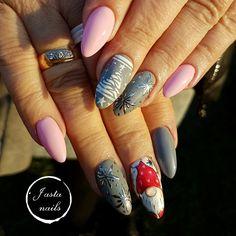 Christmas nails, zimowe wzorki, winter nails Nails, Beauty, Finger Nails, Ongles, Nail, Beauty Illustration, Sns Nails, Nail Manicure