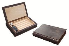 Novelist Leather Book Travel Humidor - Cutter - Humidifie