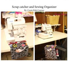 Scrap Catcher and Sewing Organizer Free Pattern from Create Kids Couture