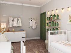 Детская комната. Автор - Аня Веретенникова 2artstudio.ru Studio, Entryway, Furniture, Home Decor, Children, Google, Green, Entrance, Young Children