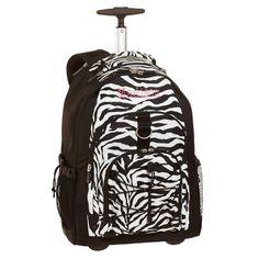 Jansport Zebra Print Rolling Backpack | Kids Rolling Backpack ...