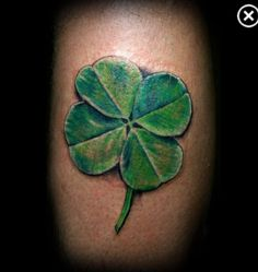 Four leaf clover tattoo realistic