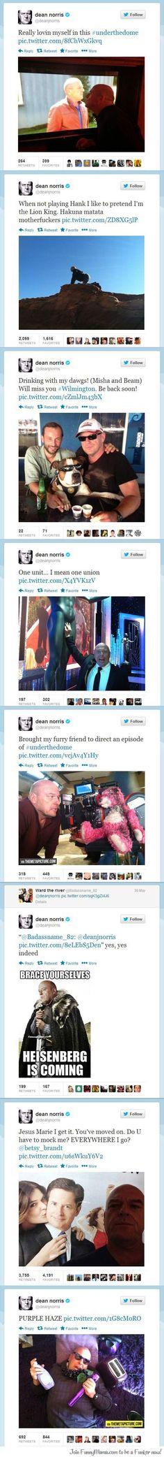 Breaking Bad's Dean Norris on Twitter