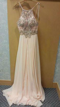 Custom made beading backless prom dresses,A-line beading long prom dresses,2016 evening dress ,grad dresses