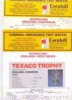 Job Lot Of Cricket Scorecards & MagazinesYorkshire V W.Indies 1973 V Australia