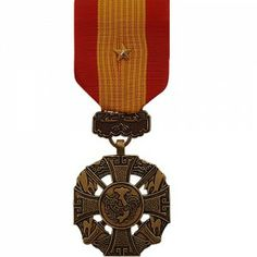 The Republic of Vietnam Gallantry Cross Medal (with Gold Star) was a decoration presented by South Vietnam to recognize valor and gallantry while serving in active combat against enemy forces. The medal was issued in four degrees represented by the type of device worn on the medal. The Gallantry Cross with  Gold Star indicates a Corps citation.