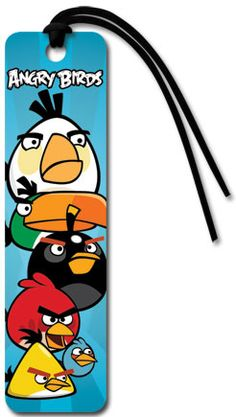 Angry Birds - Group - Collector's Beaded Bookmark