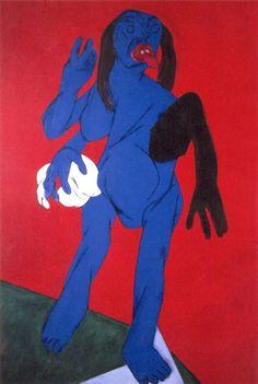 Tyeb Mehta Figurative, Oil on Canvas, 1989, 60 x 40