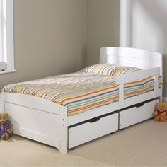 Best Online Prices On Friendship Mill Rainbow White Single Bedstead. Have Your Friendship Mill Rainbow White Single Bedstead delivered by bedstardirects experienced delivery team. Large Living Room Furniture, White Bedroom Furniture, Home Decor Furniture, Furniture Stores, Kitchen Furniture, Childrens Single Beds, Single Size Bed, Wooden Bed Frames, Wooden Beds