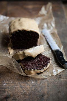 chocolate cake with peanut butter glaze