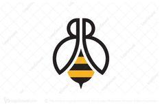 Logo Bee, Bb Logo, Letter B Tattoo, Queen Bee Tattoo, Bee Icon, Honey Logo, Honey Packaging, Branding Design, Logo Design