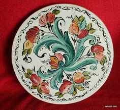 Norwegian Rosemaling  Bread Board  Hand Painted  White by PatVirch, $20.00
