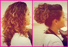 Penteados para cabelos cacheados | Antes e depois
