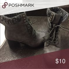 Reserved Grey boots Shoes Ankle Boots & Booties
