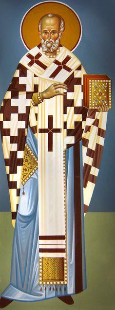 Άγιος Νικόλαος / Saint Nicholas Byzantine Icons, Byzantine Art, Santa Pictures, Orthodox Christianity, Saint Nicholas, Orthodox Icons, Painting Videos, I Icon, Religious Art
