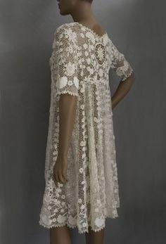 Irish crochet coat/ dress by LiveMyHappy