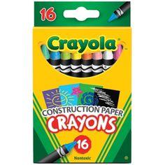 Crayola® Construction Paper Crayons, 16 count, BIN525817
