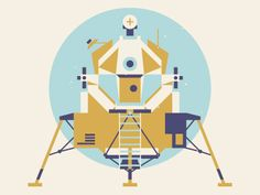 Lunar module illustration by Justin Mezzell
