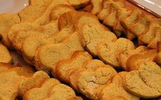 Homemade Dog Treats with Baby Food. Easy recipe and flavor can be changed up.