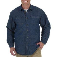 Wrangler Men's Short Sleeve Wrinkle Resistant Woven Shirt, Size: Small, Blue