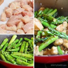 Chicken and Asparagus Lemon Stir Fry | Skinnytaste