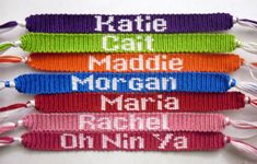 If you're seeking something a little more advanced, you may find these friendship bracelets with names or shapes to be just what you're look...