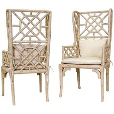 GuildMaster Bamboo Wing Back Chair 657530PCR