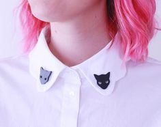 Cat collar pins