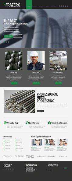 Take a closer look at this Industrial Moto CMS HTML Template ( and you will fall in love with it. Clean, professional and straightforward design. Web Design Software, Web Design Services, One Page Website, Site Web, Joomla Templates, Wordpress Template, Steel Companies, Wordpress Theme Design, Page Design