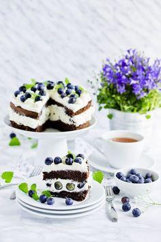 Letni tort z borówkami #intermarche #tort #borowki