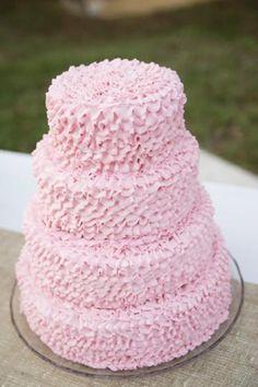 candy pink ruffled wedding cake brides of adelaide magazine