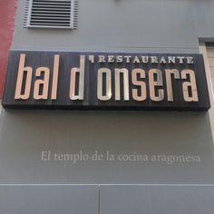 Entrada del Restaurante Bal d'Onsera