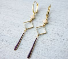 Luz Earrings signature earrings enamel jewelry by shlomitofir, $53.00