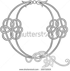 A Celtic Knot-work Capital Letter Q Stylized Outline. Raster Version. by Theo Malings, via Shutterstock