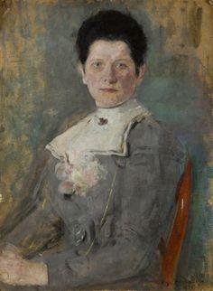 Portret Heleny z Mateckich Kurpiel - Łękawskiej by Olga Boznanska