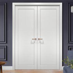Double Closet Doors, Modern Closet Doors, French Closet Doors, French Doors Bedroom, Bedroom Closet Doors, Sliding Closet Doors, Bathroom Doors, Interior Closet Doors, Bedroom Door Design