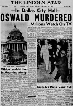 Newspaper Front Pages, Newspaper Cover, Vintage Newspaper, Newspaper Headlines, Famous People In History, Us History, History Facts, American History, Front Page News