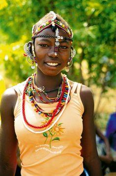Girl from Senegal, Africa