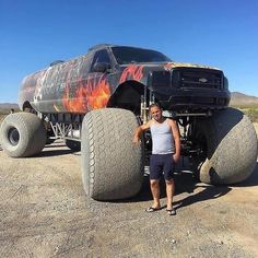Would you drive this Huge Monster Truck ? Lifted Cars, Lifted Ford Trucks, Diesel Trucks, Custom Trucks, Cool Trucks, Chevy Trucks, Pickup Trucks, Monster Trucks, Monster Car